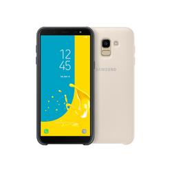 Чехол-накладка для Samsung Galaxy J6 2018 (Dual Layer Cover EF-PJ600CFEGRU) (золотистый) - Чехол для телефона  - купить со скидкой