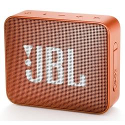JBL Go 2 (оранжевый) - Колонка для телефона и планшетаПортативная акустика<br>JBL Go 2 - портативная колонка, беспроводное подключение через Bluetooth 4.1, интерфейс AUX, частотный диапазон: 180-20000 Гц, стандарт защиты IPX7.