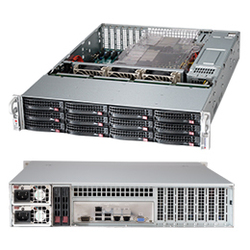 SuperMicro CSE-826BE1C4-R1K23LPB - Рэковое сетевое хранилищеРэковые сетевые хранилища<br>Серверный корпус, два блока питания 1200Вт, 12 отсеков для 3.5quot; HDD SAS/SATA, возможность горячей замены.