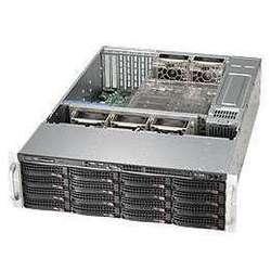 SuperMicro CSE-836TQ-R800B - Рэковое сетевое хранилищеРэковые сетевые хранилища<br>Серверный корпус, два блока питания 800Вт, 16 отсеков для 3.5quot; HDD SAS/SATA, возможность горячей замены.