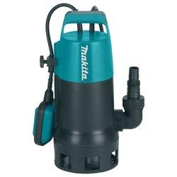 Makita PF0800 - Насос бытовойВодяные насосы<br>Makita PF0800 - погружной дренажный, глубина погружения 5 м, качает 13.2 куб. м/час, мощность 800 Вт, <br>только для чистой воды, <br>вертикальная установка, автоматика слежения за уровнем воды