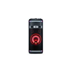 LG OK99 + диск 2000 песен (черный) - Музыкальный центрМузыкальные центры<br>Переносная мини-система с поддержкой караоке, мощность 1800Вт RMS, поддержка Bluetooth.