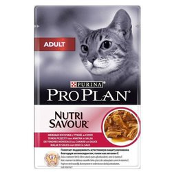 Корм для кошек Purina Pro Plan (0.085 кг) 1 шт. NutriSavour Adult feline with Duck in gravy