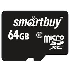 SmartBuy microSDXC Class 10 64GB w/o adapter (SB64GBSDCL10-00) - Карта флэш-памяти