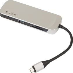 Kingston Nucleum (серебристый) - Картридер, Card ReaderУстройства для чтения карт памяти<br>Внешний картридер, интерфейс USB 3.0, 1хHDMI порт, USB A, USB-C.