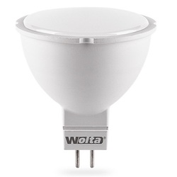 Wolta Ваша Лампа 7.5Вт GU5.3 3000К MR16 - ЛампочкаЛампочки<br>Светодиодная лампочка, цоколь: GU5.3, тип лампы: MR16, мощность: 7.5Вт, количество светодиодов: 6, материал изделия: сплав алюминия, термопластик.