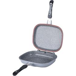 Сковорода-турбогриль KELLI KL-4075-28 - Сковорода, сотейникСковороды и сотейники<br>Двойная сковорода с мраморныйм покрытием. Диаметр - 28 см. Равномерный нагрев. Бакелитовые ручки.