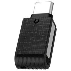 Qumo Hybrid II 64Gb (черный) - USB Flash driveUSB Flash drive<br>64 ГБ, USB 3.0/USB Type-C, материал корпуса: пластик.