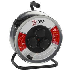 Удлинитель силовой 3 розетки 40м (ЭРА RM-3-3x1-40m-IP44) (черный) - Сетевой фильтр