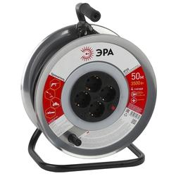 Удлинитель силовой 4 розетки 50м (ЭРА RM-4-3x1-50m) (черный) - Сетевой фильтр