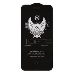 Защитное стекло для Apple iPhone 7 Plus, 8 Plus (WK Kingkong 4D) (черный) - ЗащитаЗащитные стекла и пленки для мобильных телефонов<br>Защита экрана мобильного устройства от пыли и царапин.