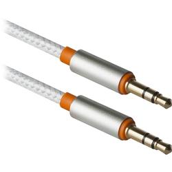 Кабель Jack3.5mm (M)-Jack3.5mm (M) 1.2м (Defender JACK01-03) (белый) - Кабель, разъем для акустической системыКабели и разъемы для акустических систем<br>Кабель Jack3.5mm (M)-Jack3.5mm (M), проводник из бескислородной меди высокой очистки, позолоченное напыление, длина 1.2м.