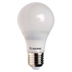 Светодиодная лампа КОСМОС ЭКОНОМИК А60-13W-Е27-3000K (теплый свет) - ЛампочкаЛампочки<br>Предназначена в большинстве случаев для декоративного освещения и подходит ко всем светильникам с цоколем Е27.<br>Эквивалентная мощность 120 Вт.