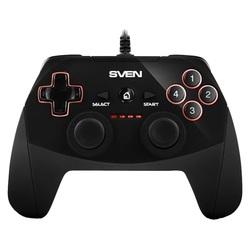 SVEN GC-250 (черный) - Руль, джойстик, геймпадРули, джойстики, геймпады<br>Проводной геймпад для ПК, PS3, виброотдача, 2 мини-джойстика, крестовина, 11 кнопок.