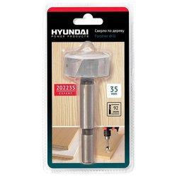 Hyundai 202235 - Сверло для дрели, шуруповертаСверла<br>Hyundai 202235 - комплектация: штучная, типоразмеры: 35x92 мм, диаметр: 35 мм, длина рабочей части: 92 мм, тип хвостовика: цилиндрический, количество в наборе (упаковке): 1 шт., по дереву