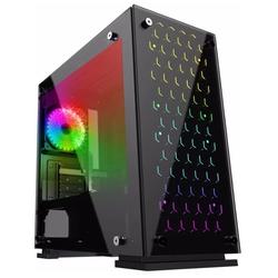 GameMax H605-TB Black - КорпусКорпуса<br>Компьютерный корпус Mini-Tower, без блока питания, форм-фактор mATX, Mini-ITX, спереди: USB x3, наушн., микр., материал: сталь.