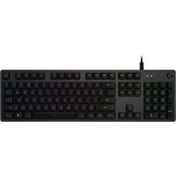Logitech G512 Carbon (920-008747) - КлавиатураКлавиатуры<br>Logitech G512 Carbon - клавиатура, проводная механическая, Romer-G, подсветка клавиш, USB, 104 клавиши.