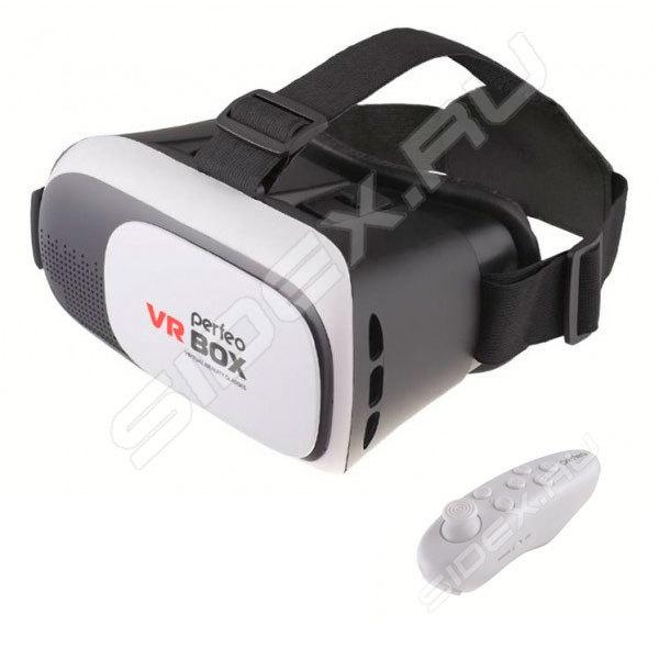 РосТест - официальная гарантия производителя очки виртуальной реальности +  пульт perfeo vr box vr 2.0+ (pf-vr box 2f2b29d6cc963