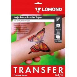 Термотрансферная бумага A4 (5 листов) (Lomond 2010450) - БумагаОбычная, фотобумага, термобумага для принтеров<br>Трансферная бумага для нанесения временных татуировок, для печати на струйном принтере водорастворимыми или пигментными чернилами на водной основе.