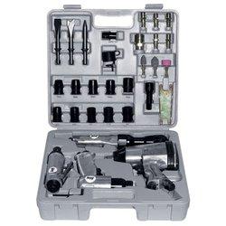 Набор пневмоинструментов Fubag 120103 - НаборНаборы пневмоинструментов<br>Тип набора: инструменты, максимальное давление: 6.24 атм, максимальный расход воздуха: 623 л/мин, диаметр воздушного штуцера, дюймы: 1/4, внутренний диаметр шланга, мм: 6, тип соединения: рапид, максимальный уровень шума: 99 дБ, количество предметов в наборе: 34 шт., кейс.