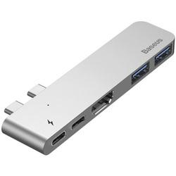 Baseus Thunderbolt C+ Dual Type-C - USB3.0, HDMI, Type-C (CAHUB-B0G) - USB HUB