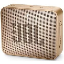 JBL Go 2 (Pearl Champagne) - Колонка для телефона и планшетаПортативная акустика<br>JBL Go 2 - портативная акустика, тип подключения: беспроводное, водонепроницаемый корпус, IPX7, спикерфон, интерфейсы: Bluetooth 4.1, AUX. Максимальная громкость: 80 дБ, частотный диапазон: 180-20000 Гц, динамик: 1 х 40 мм, время работы: до 5 часов, размеры: 68.3 х 82.7 х 30.8 мм.