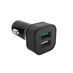 Универсальное автомобильное зарядное устройство, адаптер 2хUSB, 2.4А (Romoss AU30Q-101-01) (черный) - Автомобильный адаптер