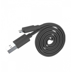 Кабель USB - Lightning для Apple 5, 5S, SE, 5C, 6, 6 Plus, 6S, 6S Plus, 7, 7 Plus, 8, 8 Plus, X, ipad 4, Air, Air 2, mini, mini 2, mini 3, mini 4, ipad 2017, pro 9.7, pro 12.9, pro 10.5 (Romoss CB12f-162-03) (черный) - Кабели
