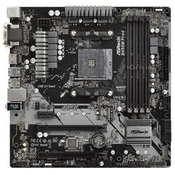 ASRock B450M Pro4 RTL - Материнская платаМатеринские платы<br>Материнская плата форм-фактора microATX, сокет AM4, чипсет AMD B450, 4 слота DDR4 DIMM, 2133-3200 МГц, поддержка CrossFire X, разъемы SATA: 6 Гбит/с - 4.