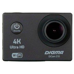 Экшн-камера Digma DiCam 210 - Экшн-камераЭкшн-камеры<br>Экшн-камера Digma DiCam 210 - UHD 4K, ЖК-экран 2 quot;, HDMI, Wi-Fi, microSD, 60 к/c при 1920x1080, 30 к/c при 4K, вес 58 г