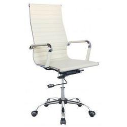 Бюрократ CH-883/IVORY  - Стул офисный, компьютерныйКомпьютерные кресла<br>Механизм качания с возможностью фиксации кресла в рабочем положении. Регулировка высоты (газлифт). Хромированная крестовина. Подлокотники хром с чехлами. Ограничение по весу: 120 кг.