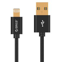 Кабель USB - Lightning для Apple 5, 5S, SE, 5C, 6, 6 Plus, 6S, 6S Plus, 7, 7 Plus, 8, 8 Plus, X, ipad 4, Air, Air 2, mini, mini 2, mini 3, mini 4, ipad 2017, pro 9.7, pro 12.9, pro 10.5 (Orico LTF-10-V1) (черный) - КабелиUSB-, HDMI-кабели, переходники<br>Кабель обеспечивает высокую скорость передачи данных для быстрой загрузки музыки, фотографий и видео на Ваше устройство, а также предлагает удобный способ зарядки.