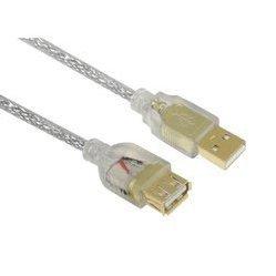 Кабель USB AM - USB AM 1.8м ( Greenconnect GCR-UM3M-BD2SG-1.8m) (прозрачный) - Кабели Выборг компьютеры и аксессуары