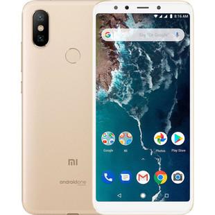 Xiaomi Mi A2 4/64GB (золотистый) ::: - Мобильный телефонМобильные телефоны<br>Смартфон Xiaomi Mi A2 4/64GB - GSM, LTE, смартфон, Android, вес 168 г, ШхВхТ 75.4x158.7x7.3 мм, экран 5.99quot;, 2160x1080, Bluetooth, Wi-Fi, GPS, ГЛОНАСС, фотокамера 12 МП, память 64 Гб, аккумулятор 3010 мА?ч