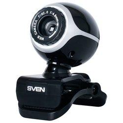 Sven IC-300 - Веб камераВеб-камеры<br>веб-камера с матрицей 0.3 мегапикс. , разрешение видео 640x480, подключение через USB 2.0, встроенный микрофон, ручная фокусировка, функция слежения за лицом, совместима с Windows