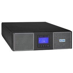 Eaton 9SX5KiRT - Источник бесперебойного питания, ИБПИсточники бесперебойного питания<br>Powerware 9SX5KiRT - источник бесперебойного питания с двойным преобразованием, 1-фазное входное напряжение, выходная мощность 5000 ВА 4500 Вт, выходных разъемов: 10 (с питанием от батарей - 10), интерфейсы: USB, RS-232, форма выходного сигнала: синусоида