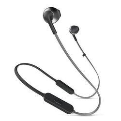 JBL T205BT (черный) - НаушникиНаушники и Bluetooth-гарнитуры<br>Беспроводные Bluetooth наушники, микрофон, диапазон воспроизводимых частот: 20-20000 Гц.