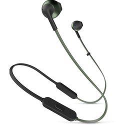JBL T205BT (зеленый) - НаушникиНаушники и Bluetooth-гарнитуры<br>Беспроводные Bluetooth наушники, микрофон, диапазон воспроизводимых частот: 20-20000 Гц.