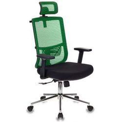 Бюрократ MC-612-H/GN/26-B01 (зеленый, черный) - Стул офисный, компьютерныйКомпьютерные кресла<br>Синхромеханизм качания с фиксацией в любом положении. Поясничная поддержка спины. Регулировка высоты (газлифт). Подголовник регулируемый по высоте и углу наклона. Вешалка для легкой одежды. Подлокотники пластиковые, регулируемые по высоте. Крестовина хромированная. Ограничение по весу: 120 кг.