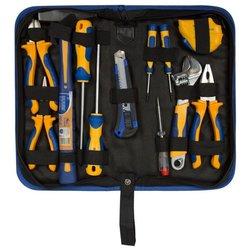 Универсальный набор KRAFT KT 703001 - Набор инструментовНаборы инструментов<br>Универсальный набор KRAFT KT 703001 - тип: универсальный, комплектация: молоток, набор отверток, кейс, кусачки, нож, пассатижи, количество предметов: 12 шт., ключ разводной