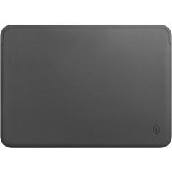 Чехол для Apple MacBook Pro 15 (WIWU Skin Pro Leather Sleeve) (серый) - Чехол для ноутбукаЧехлы для ноутбуков<br>Wiwu Skin Pro Leather — это элегантный, практичный и качественный чехол для вашего MacBook Pro с диагональю экрана 15 дюймов. Внешняя часть изготовлена из полиуретановой эко-кожи, а застежка гарантирует быстрый и легкий доступ к ноутбуку.