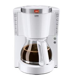 Melitta Look IV Selection (белый) - Кофеварка, кофемашинаКофеварки и кофемашины<br>Кофеварка рассчитана на 10/15 чашек. Запатентованный AromaSelector. Программируемый уровень жесткости воды. Функция очистки от накипи. Программируемый подогрев.