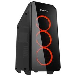 COUGAR Puritas Black - КорпусКорпуса<br>Компьютерный корпус Midi-Tower, без блока питания, форм-фактор ATX, mATX, Mini-ITX, спереди: USB x2, наушн., микр.