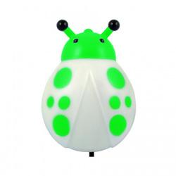 СТАРТ NL 1LED Жук (зеленый) - ОсвещениеНастольные лампы и светильники<br>Ночник со светодиодами, мощность 0.4Вт, питание от электросети, материал: пластик, металл.