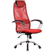 Метта BK-8 Ch № 22 (красный) - Стул офисный, компьютерныйКомпьютерные кресла<br>Метта BK-8 - компьютерное кресло, выдерживает вес до 120 кг, подголовник, поясничный упор, механизм качания.