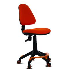 Бюрократ KD-4-F/TW-96-1 (оранжевый) - Стул офисный, компьютерныйКомпьютерные кресла<br>Пружинно-винтовой механизм качания спинки. Регулировка высоты (газлифт). Сиденье имеет 2 варианта сборки (перемещается относительно платформы), за счет этого меняется глубина сиденья. Уникальные колеса с обратным стопором : кресло перестает кататься, когда на него садишься. Спинка пружинит и перемещается вверх-вниз по опоре. Ограничение по весу: 100 кг.