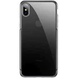 Чехол накладка для Apple iPhone Xs Max (Baseus Shining ARAPIPH65-MD03) (серебристый) - Чехол для телефонаЧехлы для мобильных телефонов<br>Baseus Shining — это ультратонкая прочная накладка на заднюю часть смартфона iPhone Xs Max, призванная обеспечить высококлассную защиту и добавить ему элегантности. Аксессуар идеально подогнан под габариты коммуникатора и имеет накладки для кнопок управления, а также вырезы в местах динамиков, разъемов, камеры и датчиков.