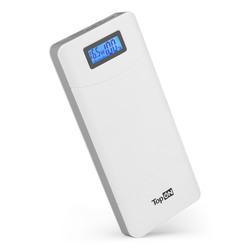 Внешний аккумулятор 18000mAh (TopON TOP-T80) (белый) - Внешний аккумуляторУниверсальные внешние аккумуляторы<br>TopON TOP-T80 - внешний аккумулятор, емкость 18000mAh, USB-C Power Delivery 45W и Quick Charge 3.0, 2 USB порта (USB1 QC 2.0 USB2 5V 2.4A). В комплекте кабель Type-C.