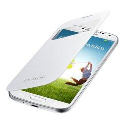 Чехол для Samsung Galaxy S4 i9500 / i9505 S View Cover EF-CI950BWEGRU  (белый) - Чехол для телефонаЧехлы для мобильных телефонов<br>Стильный чехол для Samsung Galaxy S4 i9500 Samsung EF-CI950BWEGRU белого цвета с внешним дисплеем изготовлен из искусственной кожи. В окошке, которое расположена на верхней части чехла, вы сможете увидеть текущее время, дату, пропущенные звонки и сообщения, а также ответить на входящие вызовы не вынимая смартфон из чехла.