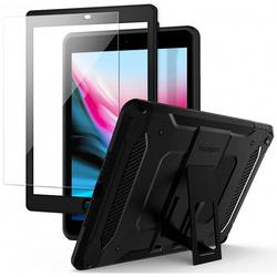 Чехол для Apple iPad 9.7 (Spigen Pro Guard 053CS24091) (черный) - Чехол для планшетаЧехлы для планшетов<br>Spigen Pro Guard - это стильный и надежный чехол для iPad 9.7, который обеспечит полноценную защиту гаджета, включая дисплей благодаря наличию в комплекте защитного стекла. Аксессуар обладает конструкцией из 4 слоев, дабы максимально эффективно бороться с такими явлениями, как царапины, потертости, сколы и трещины.